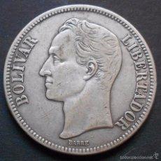 Monedas antiguas de América: VENEZUELA 5 BOLIVARES 1935 -PLATA-. Lote 60792819
