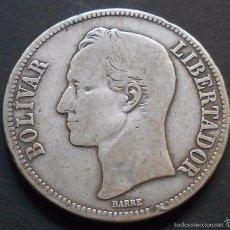 Monedas antiguas de América: VENEZUELA 5 BOLIVARES 1929 -PLATA-. Lote 60793047