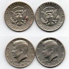 Monedas antiguas de América: LOTE DE 2 MONEDAS DE MEDIO DOLAR - 1973 Y 1974 ESTADOS UNIDOS ( USA ) KENNEDY. Lote 62104576
