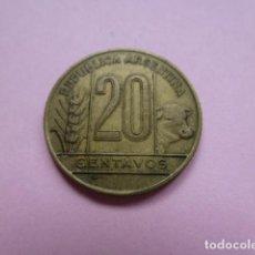 Monedas antiguas de América: MONEDA ARGENTINA, 20 CENTAVOS. VEINTE CENTAVOS 1942. Lote 62108536