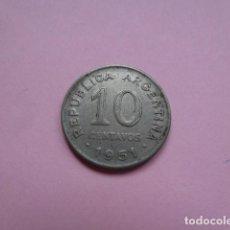 Monedas antiguas de América: MONEDA ARGENTINA, 10 CENTAVOS. DIEZ CENTAVOS 1951. Lote 62108604