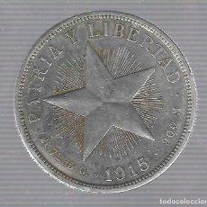Monedas antiguas de América: MONEDA. REPUBLICA DE CUBA. 1 PESO. 1915. VER. Lote 62325932