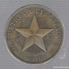 Monedas antiguas de América: MONEDA. REPUBLICA DE CUBA. 1 PESO. 1915. VER. Lote 62325964