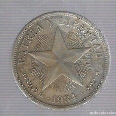 Monedas antiguas de América: MONEDA. REPUBLICA DE CUBA. 1 PESO. 1934. VER. Lote 62329492