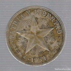 Monedas antiguas de América: MONEDA. REPUBLICA DE CUBA. 1 PESO. 1934. VER. Lote 62329520
