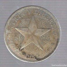 Monedas antiguas de América: MONEDA. REPUBLICA DE CUBA. 1 PESO. 1934. VER. Lote 62329548