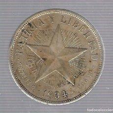 Monedas antiguas de América: MONEDA. REPUBLICA DE CUBA. 1 PESO. 1934. VER. Lote 62329604