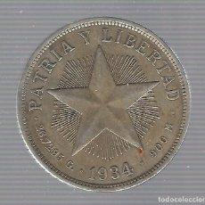 Monedas antiguas de América: MONEDA. REPUBLICA DE CUBA. 1 PESO. 1934. VER. Lote 62329692
