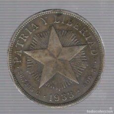 Monedas antiguas de América: MONEDA. REPUBLICA DE CUBA. 1 PESO. 1933. VER. Lote 62333068