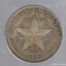 Monedas antiguas de América: MONEDA. REPUBLICA DE CUBA. 1 PESO. 1932. VER. Lote 62333948