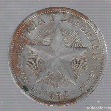 Monedas antiguas de América: MONEDA. REPUBLICA DE CUBA. 1 PESO. 1932. VER. Lote 62334136