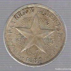 Monedas antiguas de América: MONEDA. REPUBLICA DE CUBA. 1 PESO. 1932. VER. Lote 62334452