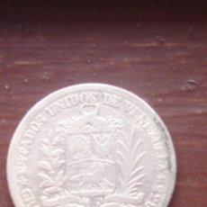 Monedas antiguas de América: VENEZUELA. 1 BOLÍVAR DE PLATA DE 1945.. Lote 63271712