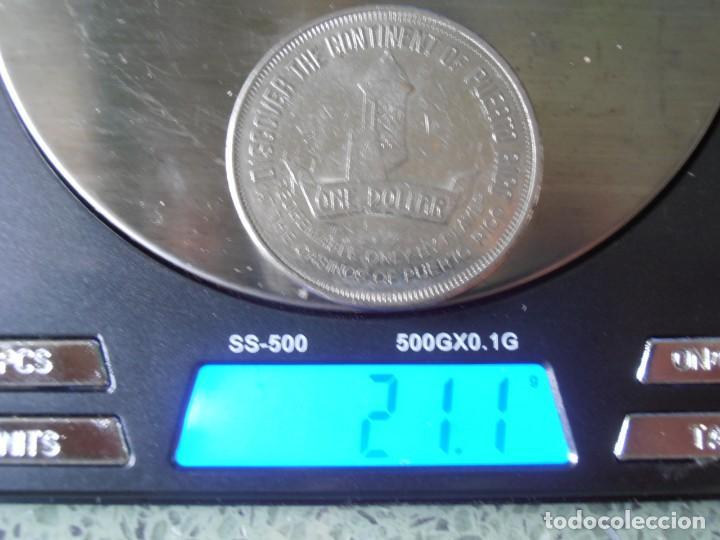 Monedas antiguas de América: Puerto Rico 1 dollar de de casino 1994.Muy curioso. - Foto 3 - 63414004