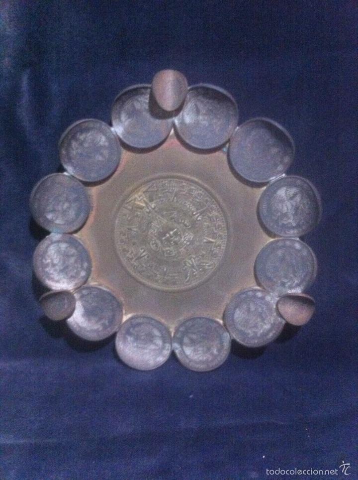 RARO CENICERO HECHO CON MONEDAS (MÉXICO) (Numismática - Extranjeras - América)