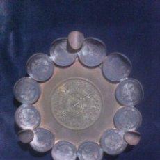 Monedas antiguas de América: RARO CENICERO HECHO CON MONEDAS (MÉXICO). Lote 63432219
