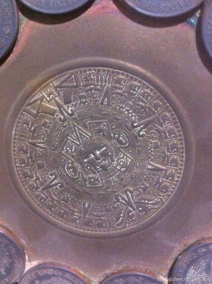 Monedas antiguas de América: Raro cenicero hecho con monedas (MÉXICO) - Foto 3 - 63432219