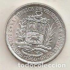 Monedas antiguas de América: VENEZUELA. 2 BOLÍVARES DE PLATA DE 1960. NUEVA. Lote 156904729