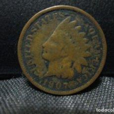 Monedas antiguas de América: 1 CEMT 1907 ESTADOS UNIDOS DA AMERICA. Lote 63912831