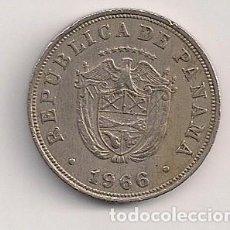 Monedas antiguas de América: PANAMÁ - 5 CENTESIMO 1966 - KM# 23.2. Lote 66278134