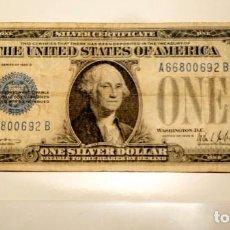 Monedas antiguas de América: BILLETE 1928 USA 1 $ BILLETE CON SELLO AZUL. Lote 66478978