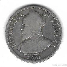 Monedas antiguas de América: MONEDA. PANAMA. 10 CENTESIMAS DE BALBOA. 1904.. Lote 68444637