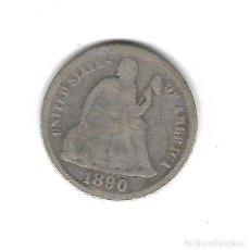 Monedas antiguas de América: MONEDA. 1 DIME. EEUU. 1890.. Lote 68455833