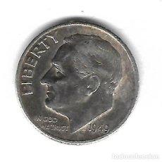 Monedas antiguas de América: MONEDA. EEUU. ONE DIME. 1949. PLATA. Lote 68824433