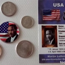 Monedas antiguas de América: MUY BONITO Y CURIOSO BLISTER DE 6 MONEDAS DE MARTIN LUTHER KING ESTADOS UNIDOS DE AMERICA. Lote 68965265