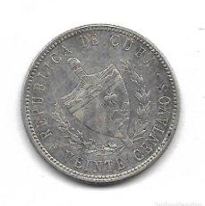 Monedas antiguas de América: MONEDA. CUBA. 20 CENTAVOS. 1949. PLATA. Lote 69042005