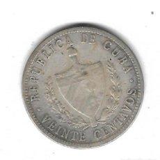 Monedas antiguas de América: MONEDA. CUBA. 20 CENTAVOS. 1948. PLATA. Lote 69042113