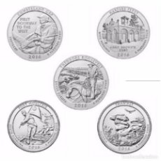 Monedas antiguas de América: USA 2016 QUARTER LAS 5 MONEDAS D. Lote 180263695