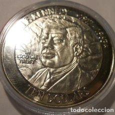Monedas antiguas de América: MONEDA DE 10 $ LIBERIA 2003 DEL PRESIDENTE KENNEDY DE ESTADOS UNIDOS DE AMERICA U.S.A . Lote 69588389