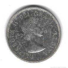Monedas antiguas de América: MONEDA. CANADA. 25 CENTAVOS DE PLATA. 1960.. Lote 69823757