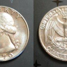 Monedas antiguas de América: MONEDA CON ERROR DE 1/4 DOLAR 1970 DE USA. GEORGE WASHINGTON. Lote 49530670