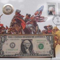 Monedas antiguas de América: INTERESANTE CARTA NUMISMATICA NUMISBRIEF DE GEORGE WASHINGTON ESTADOS UNIDOS DE AMERICA. Lote 71529959