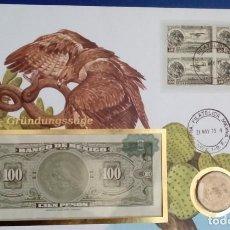 Monedas antiguas de América: INTERESANTE CARTA NUMISMATICA NUMISBRIEF DE LA CREACION DEL SIMBOLO DE MEXICO AGUILA Y SERPIENTE. Lote 71533939