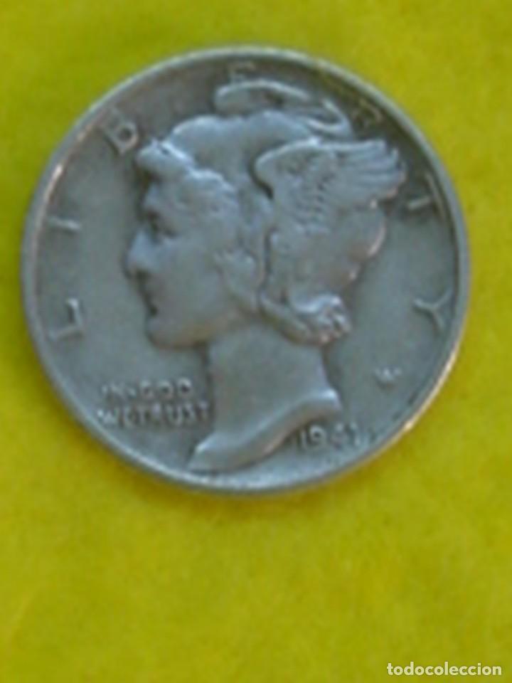 ESTADOS UNIDOS. 10 CENTAVOS DE PLATA (1 DIME) DE 1941. KM 140 (Numismática - Extranjeras - América)