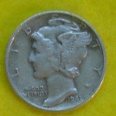 Monedas antiguas de América: ESTADOS UNIDOS. 10 CENTAVOS DE PLATA (1 DIME) DE 1941. KM 140. Lote 71608307