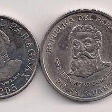 Monedas antiguas de América: PARAGUAY - SERIE 4 MONEDAS 2006 - SIN CIRCULAR. Lote 163681337