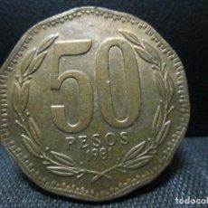 Monedas antiguas de América: 50 PESOS 1981 REPUBLICA DE CHILE. Lote 176104567