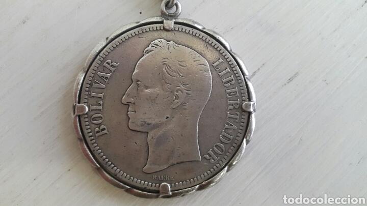 Monedas antiguas de América: LLAVERO MONEDA DE PLATA BOLÍVAR ESTADOS UNIDOS DE VENEZUELA 1902 GRAM 25 LEI 900 - Foto 2 - 73994089