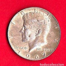 Monedas antiguas de América: MONEDAS USA 1967 - KENNEDY . HALF DOLLAR / 50 CENTAVOS VF PLATA. Lote 73996127