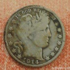 Monedas antiguas de América: ESTADOS UNIDOS HALF DOLLAR BARBER 1914 S - MEDIO DÓLAR BARBER 1914 S. Lote 76178087