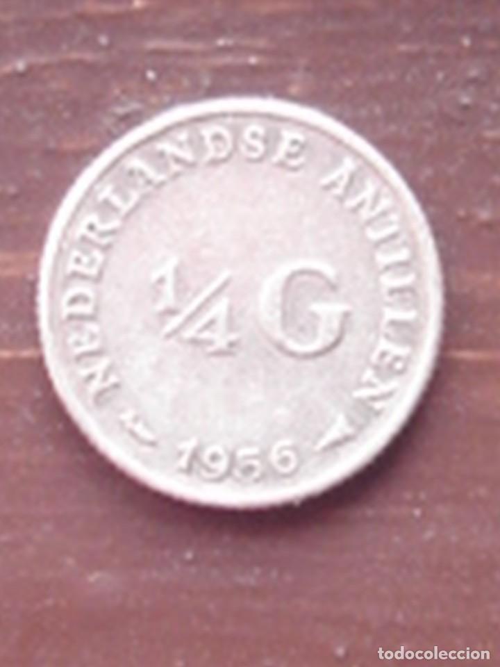 Monedas antiguas de América: Antillas holandesas. Reina Juliana. 1/4 de florín (gulden) 1956 y 1/10 de florín 1966. Plata. EBC - Foto 3 - 76608959