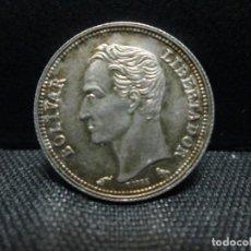 Monedas antiguas de América: 50 CENTIMOS 1960 VENEZUELA PLATA EBC. Lote 77557673