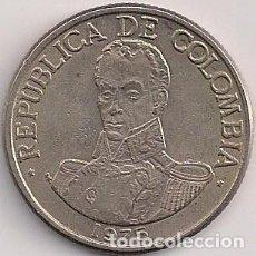 Monnaies anciennes d'Amérique: COLOMBIA - 1 PESO 1975 - KM# 258.1. Lote 77862303