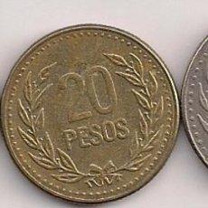 Monnaies anciennes d'Amérique: COLOMBIA - 3 MONEDAS DE 10-20-50 PESOS 1990-1991 - KM#281.1-282.1-283.1. Lote 77627641