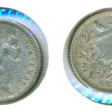 Monedas antiguas de América: GUATEMALA - MEDIO 1/2 REAL 1896 ( MBC+ ) PLATA. Lote 78377549