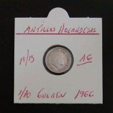 Monedas antiguas de América: ANTILLAS HOLANDESAS 1/10 GULDEN (PLATA)1966 MBC KM 3. Lote 78388877